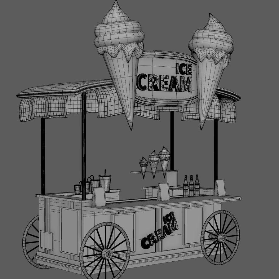 Ice Cream Wagon Cartoon royalty-free 3d model - Preview no. 13