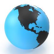 世界地図の小さな三角形 3d model