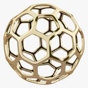Hexagon Gold Structure 3d model