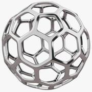 Hexagon Silver Structure 3d model