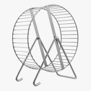 Ruota per criceto in metallo 3d model