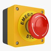 Emergency Stop Button 01 3d model
