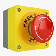 Emergency Stop Button 02 3d model