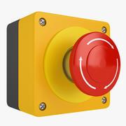 Emergency Stop Button 03 3d model