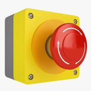 Emergency Stop Button 04 3d model