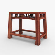 Asian Low Chair 3d model