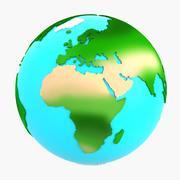 漫画lowpoly Earth(1) 3d model
