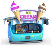 Ice Cream Stand Cartoon 3d model