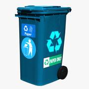 ゴミ箱紙青 3d model