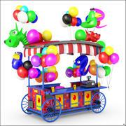 Balloon Wagon Cartoon 3d model