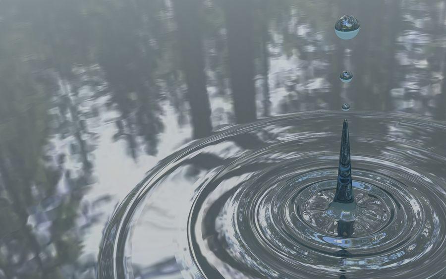 Gota de agua royalty-free modelo 3d - Preview no. 2
