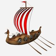 Cartoon Viking schip 3d model