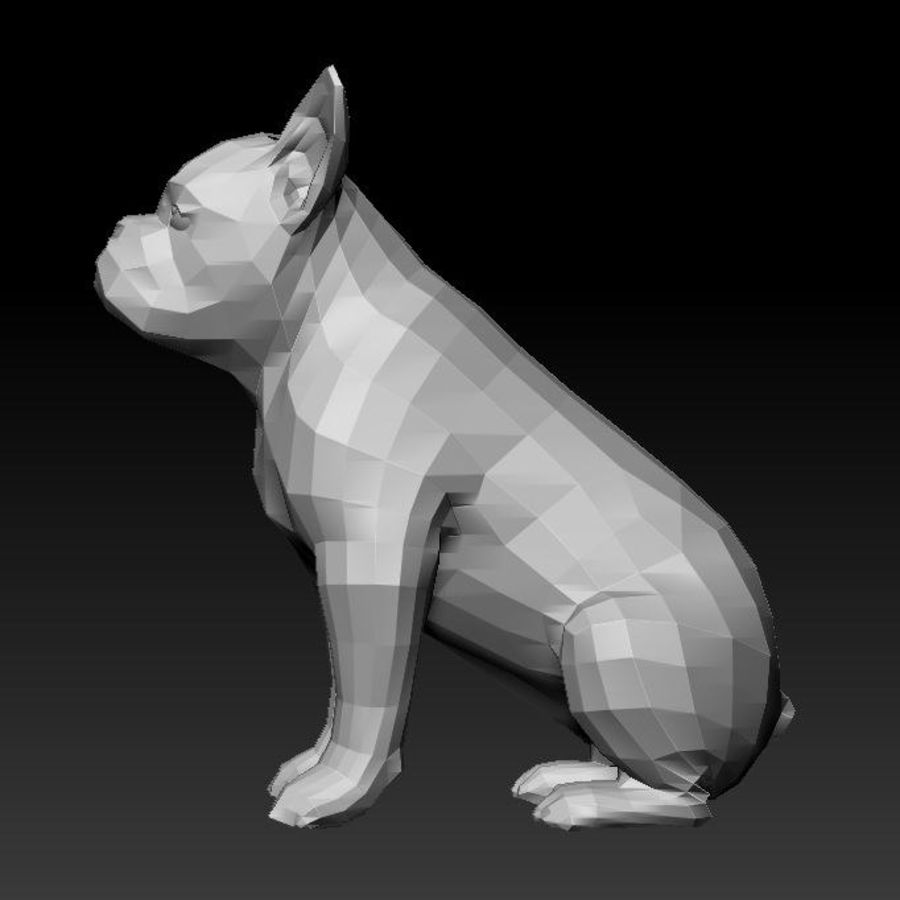 französische Bulldogge 3 royalty-free 3d model - Preview no. 6