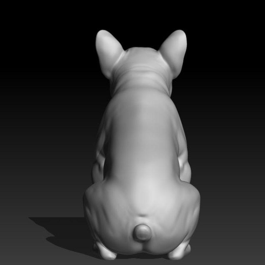französische Bulldogge 3 royalty-free 3d model - Preview no. 3
