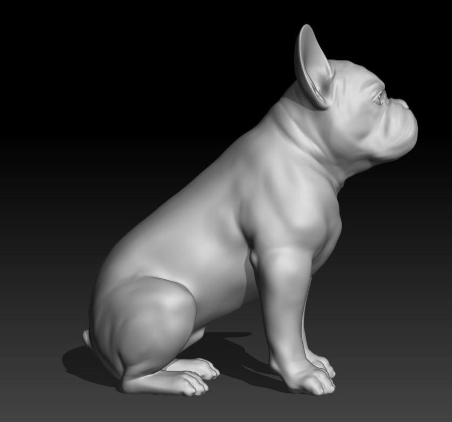 französische Bulldogge 3 royalty-free 3d model - Preview no. 1