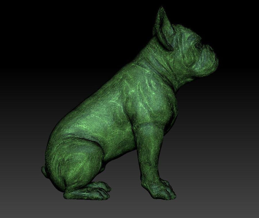 französische Bulldogge 3 royalty-free 3d model - Preview no. 7