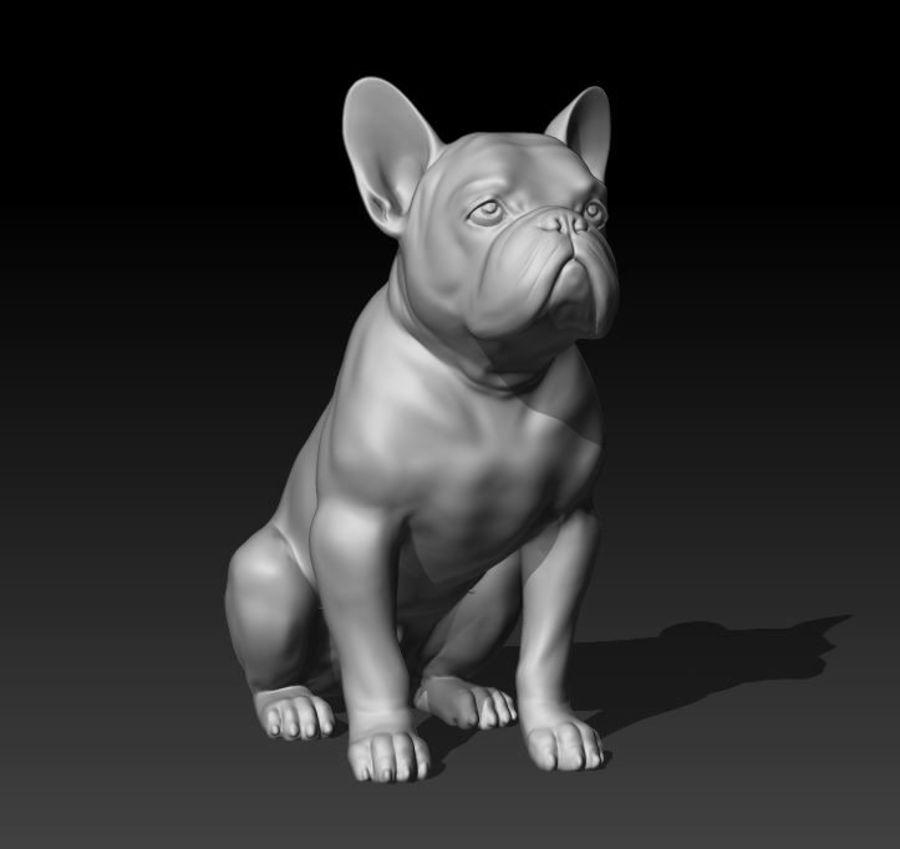 französische Bulldogge 3 royalty-free 3d model - Preview no. 2
