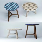 mosaic-tiled-bistro-table 3d model