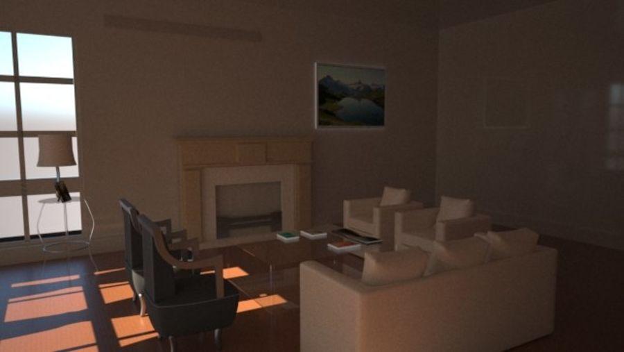 Vardagsrum inredning royalty-free 3d model - Preview no. 2