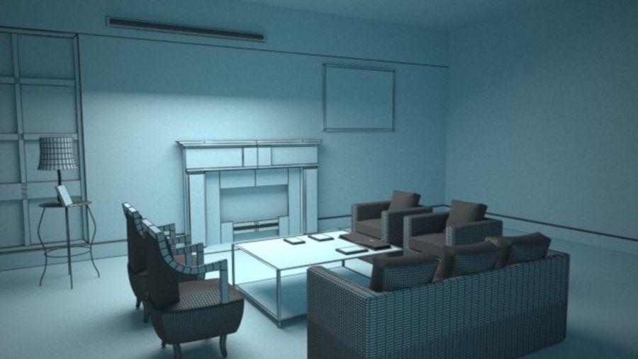Vardagsrum inredning royalty-free 3d model - Preview no. 5