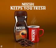 Frasco de Nescafé com caneca 3d model