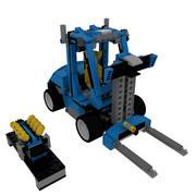 레고 지게차 3d model
