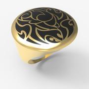 O anel tribal dos homens do projeto 3d model