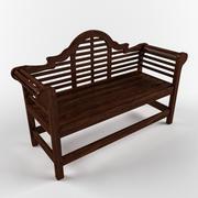 长凳公园 3d model