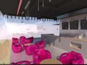 Cafe Minimalista Industrial modelo 3d