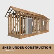 建設中の小屋 3d model