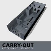 Carry-out Restaurant 3d model