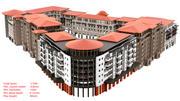 фасады зданий 3d model