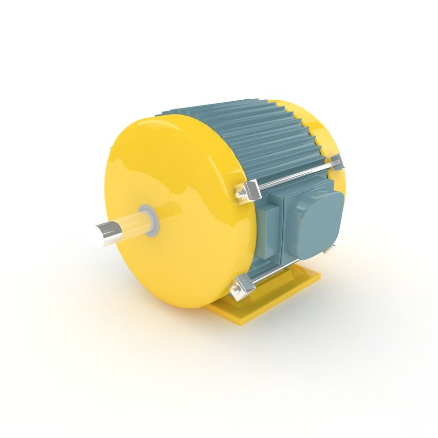 Electric motor royalty-free 3d model - Preview no. 2