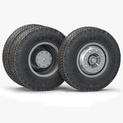 Truck Wheels& Tires 3d model