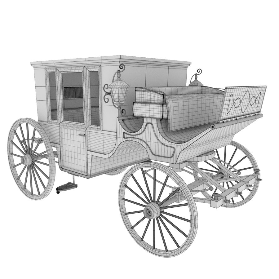 Carriage royalty-free 3d model - Preview no. 25