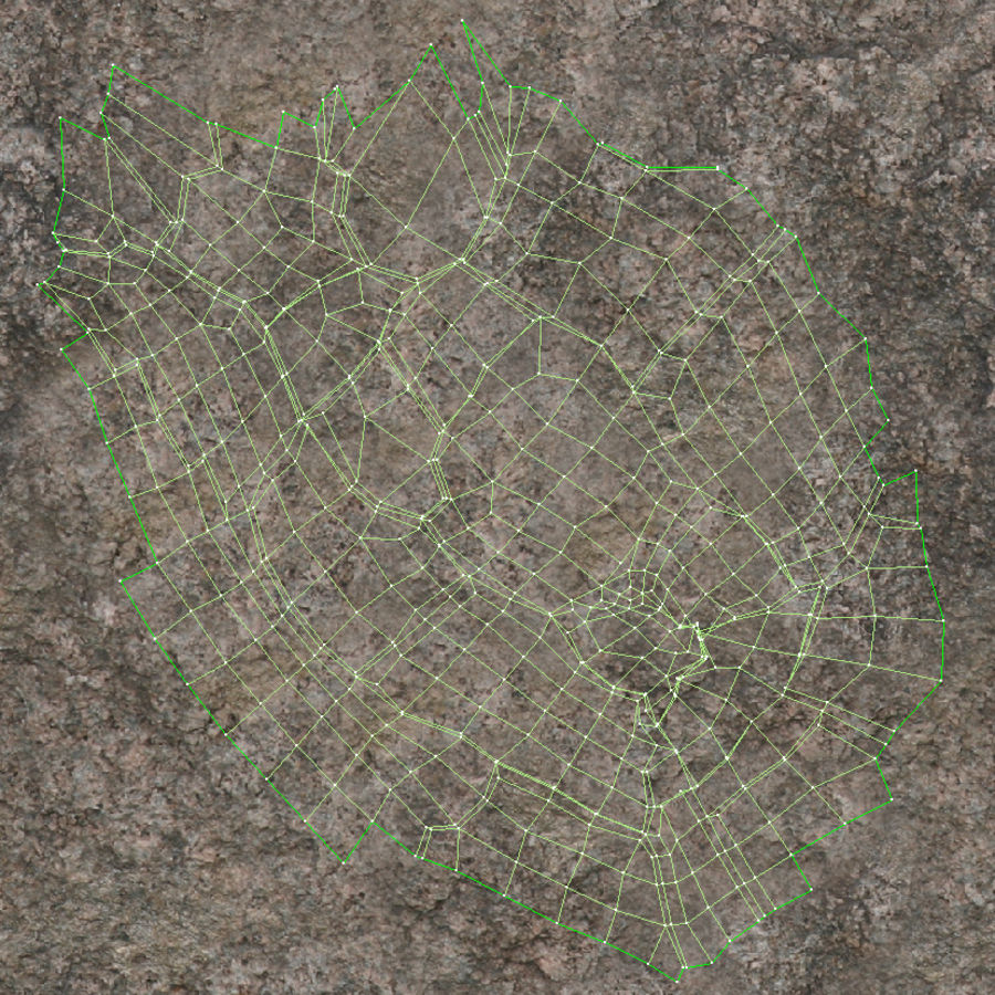 Мультфильм трава и камень royalty-free 3d model - Preview no. 15
