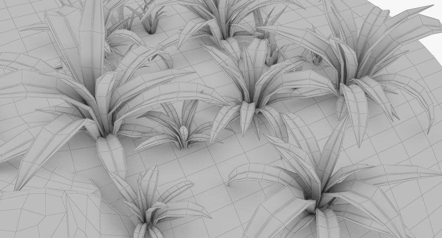 Мультфильм трава и камень royalty-free 3d model - Preview no. 13