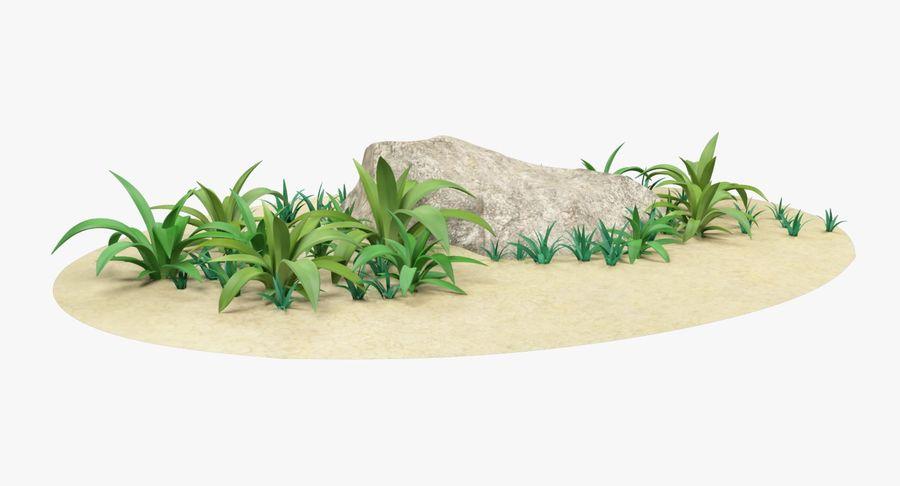 Мультфильм трава и камень royalty-free 3d model - Preview no. 9