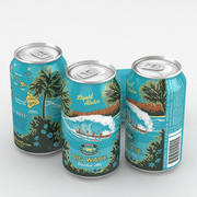 啤酒罐Kona Big Wave 12fl oz 3d model