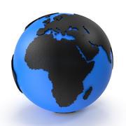 世界地図のタイルパターン 3d model