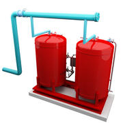 Chilled Water Expansion Tank 3d model