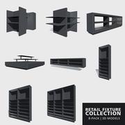 小売備品コレクション 3d model