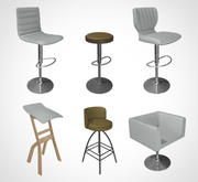Tamborete de barra de cadeira 001 3d model