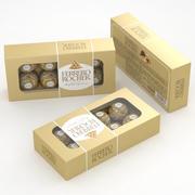 Ferrero Rocher Caixa 100g 3d model