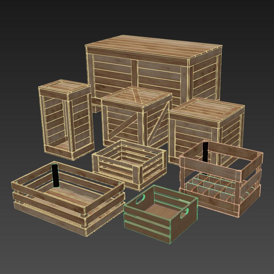 木箱コレクション royalty-free 3d model - Preview no. 10