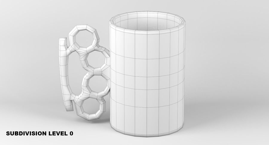 Knokkel mok royalty-free 3d model - Preview no. 7