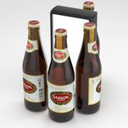 Beer Bottle Saigon Export 355ml 3d model