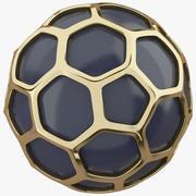 Hexagon Gold Ball 3d model