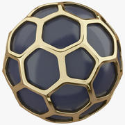 Hexagon Gold Ball 3d model