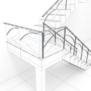 лестничные перила 3d model